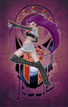 She's just fierce... Pokemon ala art nouveau