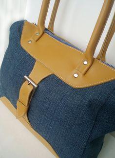 Denim bag mustard color stylish women s tote bag от SumkinsUA Denim Bag 65b83337d3b94