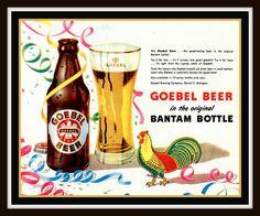Fridge Magnet Goebel Bantam Beer ad image from 1948 by Vividiom