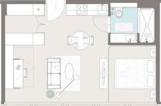 PhilsPlace Vienna Grundriss Apartment Superior Plus 40 sqm
