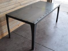 Simple metal table from Vintage Industrial