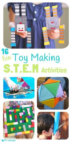 Inspire kids to develop skills in Science, Technology, Engineering and Math with these 16 Toy Making STEM Projects. Kids will love to make, learn and play!