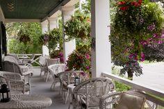 Upper verandah at the Charles Hotel in Niagara on the Lake.