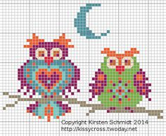 Cross Stitch Owl, Just Cross Stitch, Cross Stitch Borders, Cross Stitch Animals, Cross Stitch Designs, Cross Stitching, Cross Stitch Embroidery, Cross Stitch Patterns, Graph Paper Art