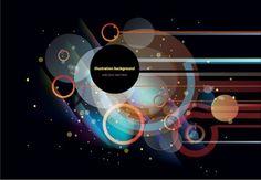 Circular background vector