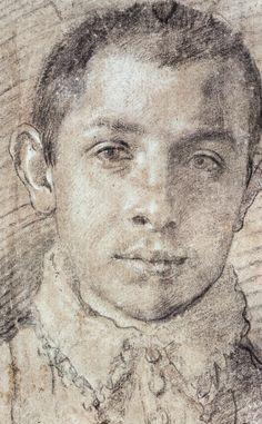 Carracci Annibale - Ritratto di giovane, 1589-1590 15th century, 16th century. Doublet, Cape, Capelet, Romeo, revels, faire, Elizabethan, Tudor, Renaissance