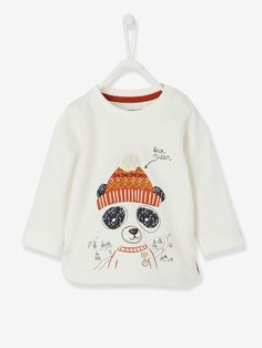 Baby Boys' Asia Print T-Shirt - white light solid with design, Baby