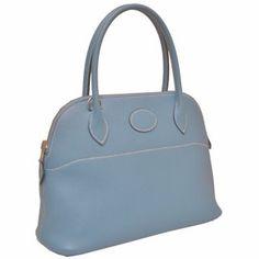 Hermes Borido 27cm Blue Gene Swift Silver Hardware  269 Everyday Bag 72403af0561fa