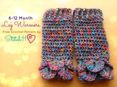 "Free pattern for ""6-12 month leg warmers""!"