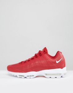5883c245739 Nike Air Max 95 Ultra Trainers In Red 857910-600 at asos.com