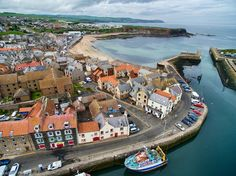 Eyemouth aerial  - (explore your biking wanderlust on www.motorcyclescotland.com) Berwick Upon Tweed, Orkney Islands, Room Art, Wonderful Places, Biking, Childhood Memories, Countryside, Pond, United Kingdom