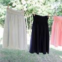 Greatest skirt idea ever.  Men's tees into skirts!!  Seriously, someone teach me to sew with elastic thread!!
