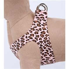 #SusanLanciDesigns step in #dogharness in sassy Pink Cheetah Couture fabric.