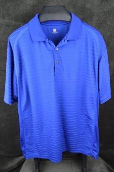 2 under mens 2XL XXL SS blue polo golf shirt polyester FREE SHIPPING #2under #PoloRugby