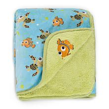 This hangs over the rocking chair in the Finding Nemo nursery, -Disney Finding Nemo Velour Sherpa Blanket