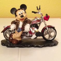 Mickey with motorcycle