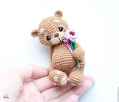 Купить амигуруми мишка Макс вязаная игрушка в интернет магазине на Ярмарке Мастеров