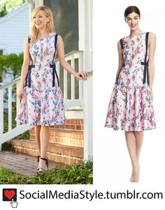 Buy Reese Witherspoon's Draper James Bow Embellished Floral Print Dress, here!