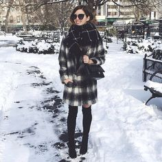 """Bold in the cold: @eaemileeanne heats things up in the HIGHLAND. #inourshoes #regram"""