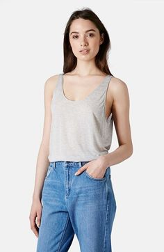 Free shipping and returns on TOPSHOP Boutique Premium Tank at Nordstrom.com. Ultrasoft modal blended with a touch of cashmere shapes a semi-sheer tank elevated by roomy armholes and a plunging back neckline.