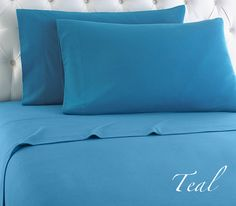 Add a great color to your bedding with our snuggly soft teal Micro Flannel® sheets.    This teal sheet set will keep you wrapped in the innovative, lightweight warmth of Micro Flannel® - wihout the bulk of traditional flannels. Complimented with quick wash & quick dry construction, you'll love having these sheets on your bed all year long,
