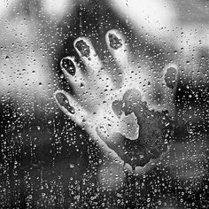 Hand on wet window black and white rain window hand wet Photo D Art, Foto Art, Rain Window, Art Afro, Window Photography, Water Photography, I Love Rain, Rain Go Away, Dancing In The Rain
