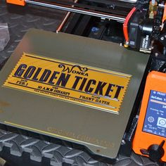Golden Ticket printed by de3dpritman #prusamini