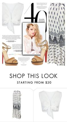 """Untitled #2200"" by defivirda ❤ liked on Polyvore featuring Silvana and Christian Louboutin"