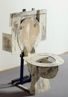 Claes Oldenburg, Toilet - Hard Model, 1966 on ArtStack Pop Art, Toilet Art, Inflatable Furniture, Claes Oldenburg, Small Art, Everyday Objects, Soft Sculpture, Art Plastique, Public Art