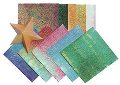 Folia Origami Paper Assortment 512 X 512 in Assorted Iridescent Color Pack of 150 -- See this great product.