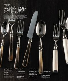 Natural Horn Flatware Restoration Hardware