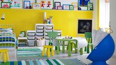 This wall to playroom.