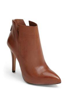 Brown heeled bootie.