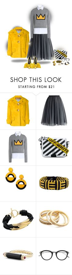 """""""Shoes with color"""" by deborah-518 ❤ liked on Polyvore featuring Prada, Chicwish, Off-White, Miss Selfridge, NOVICA, Sterling Forever, Madewell, David Yurman, Tom Ford and contestentry"""