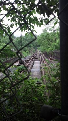 Abandoned Montour Railroad trestle near Pittsburgh PA