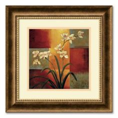 """White Orchid"" Framed Wall Art"