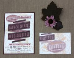 Vintage Rock n' Roll Wedding Invites