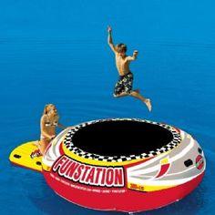 Funstation 10 Foot Jumper Island Lake Bouncer for $519.99 #WaterTrampolines #CozyDays