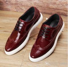 Herren Retro Geschnitzte Leder Slip Resistant Business Brogue Casual Formale Schuhe