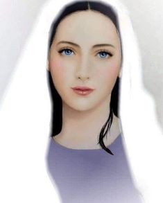 Jesus Mother, Blessed Mother Mary, Divine Mother, Blessed Virgin Mary, Christ In Me, Jesus Christ Images, Christian Drawings, Christian Art, Virgin Mary Art