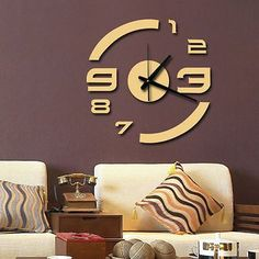 wall clock decor living room 128352658114368926 - Modern Home Quartz Wall Clock Acrylic Mirror Diy Clocks Living Room Decor Source by Living Room Clocks, Living Room Decor On A Budget, Diy Clock, Clock Decor, Clock Wall, Unique Wall Clocks, Wood Clocks, Diy Mirror, Acrylic Mirror