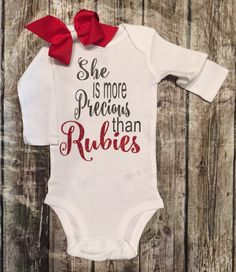 Hey, I found this really awesome Etsy listing at https://www.etsy.com/listing/266405316/baby-girl-onesie-shes-more-precious-than