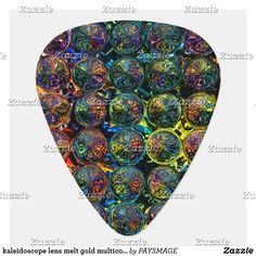 Shop kaleidoscope lens melt gold multicolor guitar pick created by PAYSMAGE. Guitar Case, Guitar Picks, Acoustic, Triangle, Lens, Cases, Prints, Gold, Design