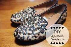 Dearest Lou: DIY Spiked Loafers