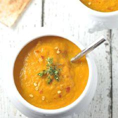 Carrot, Ginger & Sweet Potato Soup.