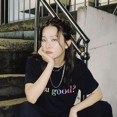 Kpop Girl Groups, Kpop Girls, My Girl, Cool Girl, Kang Seulgi, Red Velvet Seulgi, I Icon, Korean Singer, T Shirts For Women