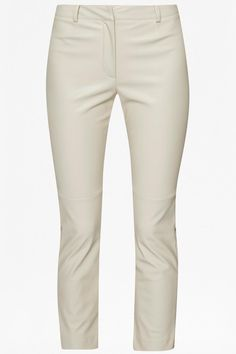 French Connection Pleather Trouser in African Stone Cut with slim fit seam detailing at the knee and finished at the ankle with a zipped hem.Sizes are UK. UK Size 4 = US 1; UK 6 = US 2; UK 8 = US 4; UK 10 = US 6; UK 12 = US 8; UK 14 = US 10; UK 16 = 12; UK 18 = US 14; UK 20 = US 16; UK 22 = US 18  Vegan Leather Trouser by French Connection. Clothing - Bottoms - Pants & Leggings - Leather Essex East of England England United Kingdom