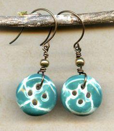 button earrings cute.