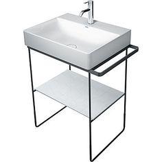 Duravit 0031011000 DuraSquare Metal console floorstanding, Console Only Duravit, Bathroom Vanity Base, Master Bathroom, Beautiful Bathrooms, Modern Bathroom, Ideas Baños, Tile Ideas, Decor Ideas, Craft Ideas