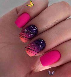 #diy weihnachtsgeschenke #garden in pots #grey nail #diy bed frame #decor party #nail korean style #square nail #bathroom decor<br> Short Nail Designs, Nail Designs Spring, Square Nail Designs, Cute Summer Nail Designs, Best Nail Art Designs, Summer Design, Gel Nail Designs, Cute Acrylic Nails, Glitter Nails
